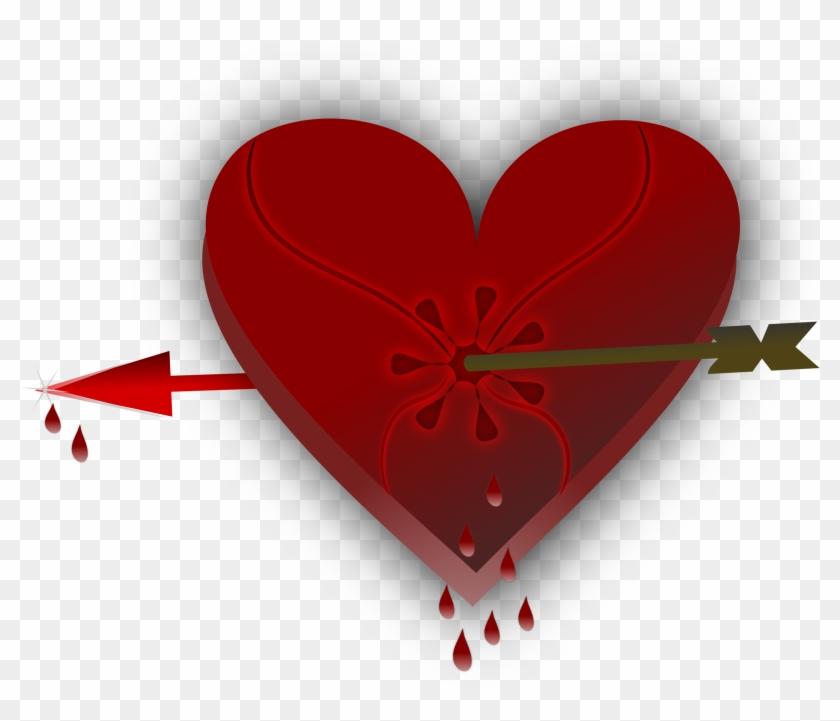 Broken Heart Clipart Sweetheart - Broken Heart With Blood #91065