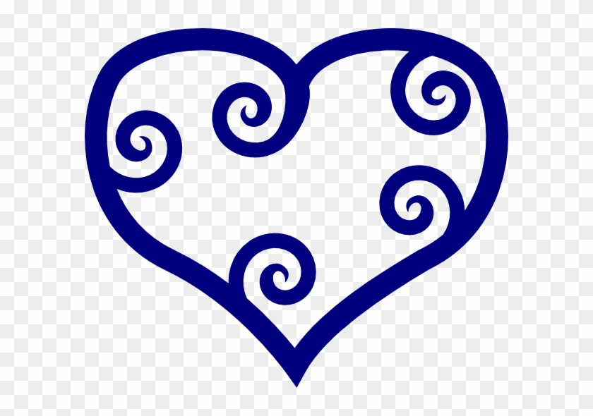 Blue Heart Clip Art At Clker - Navy Blue Heart Clipart #91084