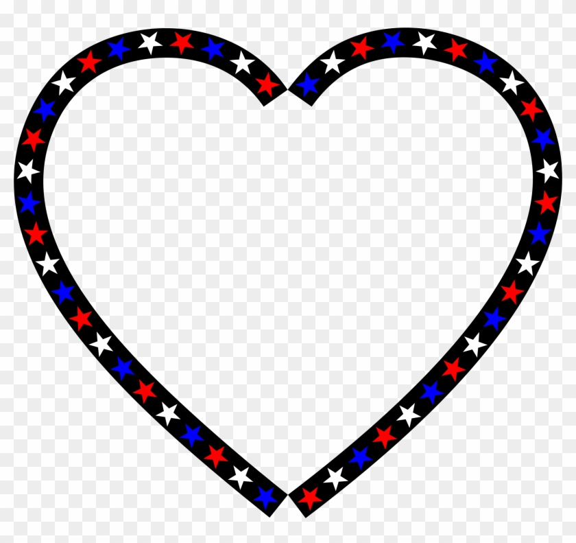 Big Image - Red White Blue Heart #91094