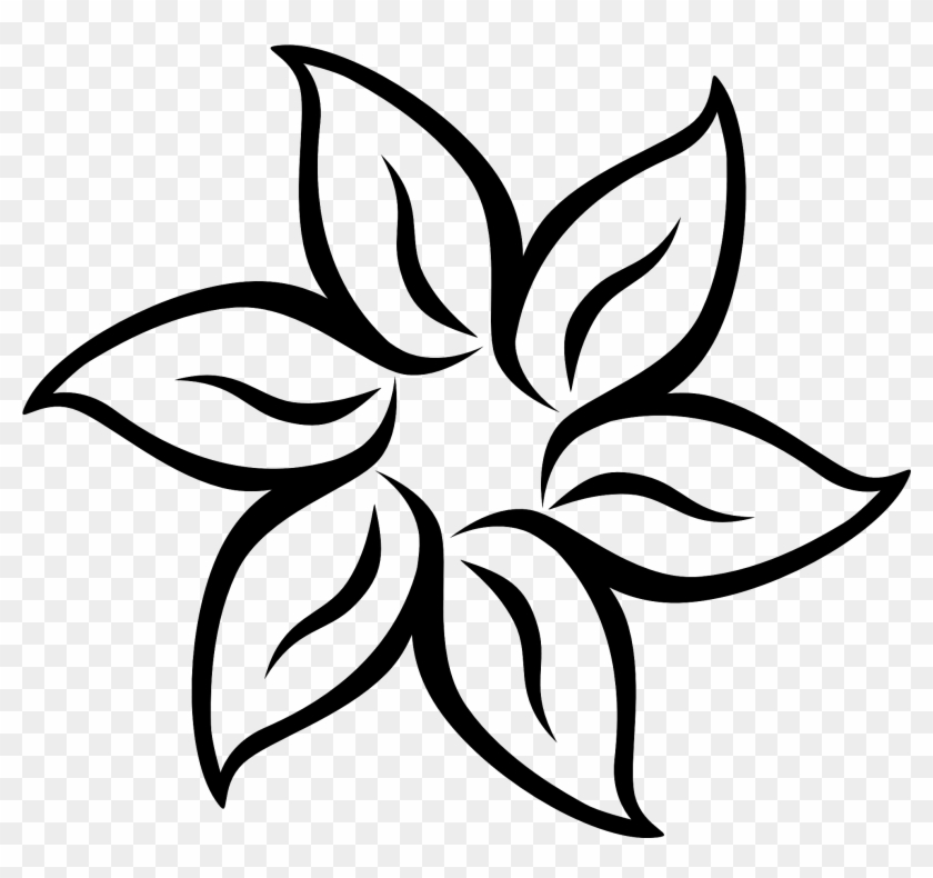 Flower Silhouette Png Image - Easy To Draw Flowers - Free