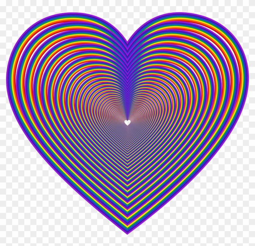 Big Image - Rainbow Heart #91110