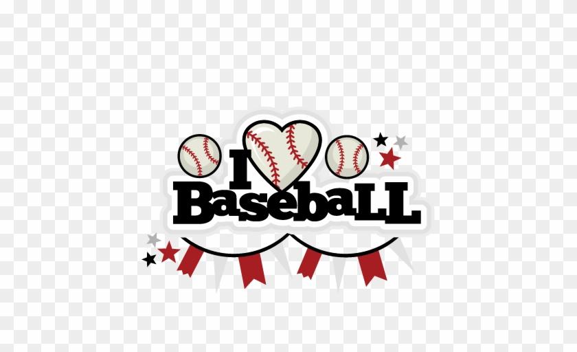 I Heart Baseball Title Scrapbook Cut File Cute Clipart - Cute Baseball Clip Art #91142