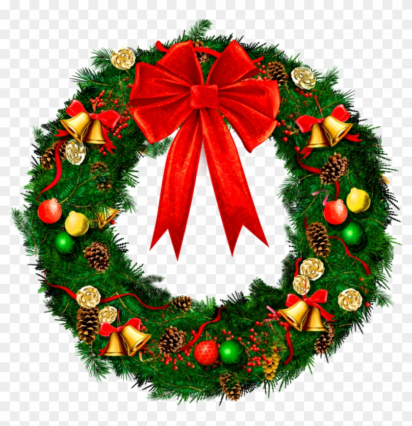 Pictures Of Xmas Wreaths - Christmas Reef Png #91178
