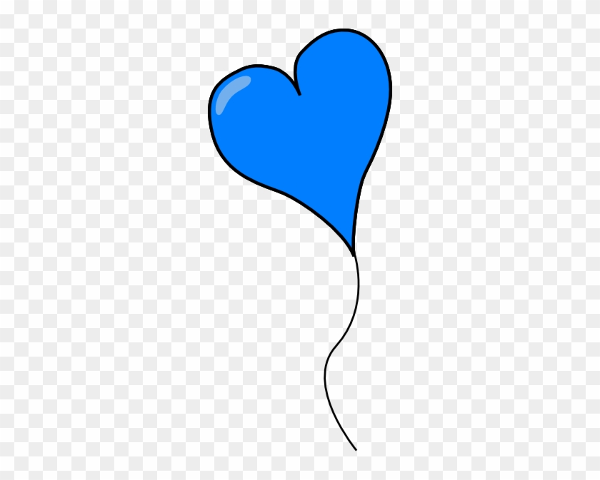 Blue Heart Balloon Clip Art - Blue Heart Balloons Clip Art #91223