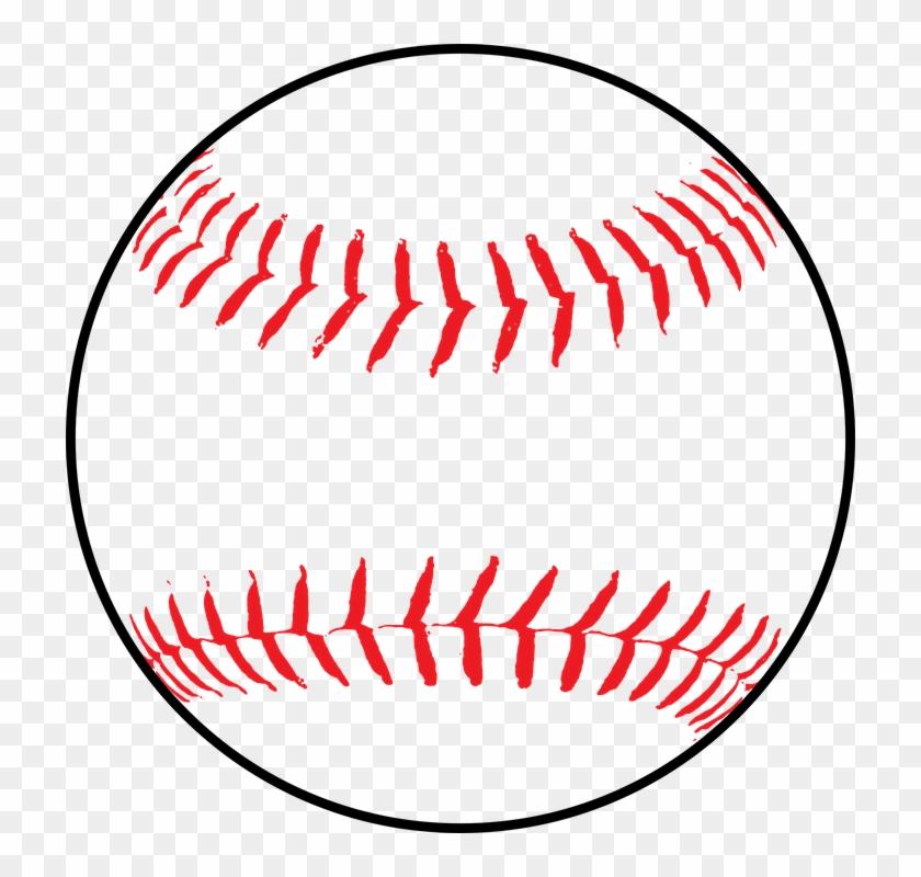 Softball Baseball Ball Leather White Seam - Baseball Clip Art Png #91248