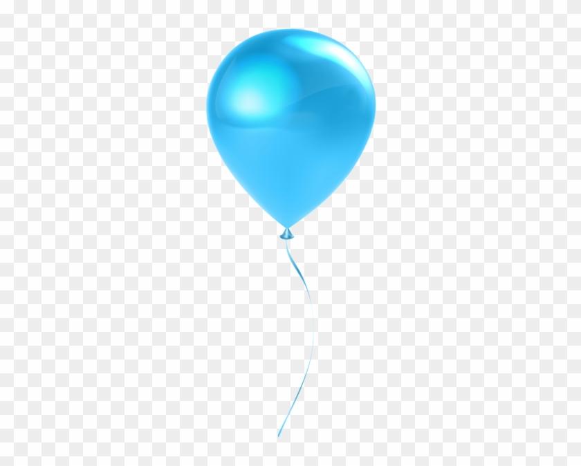 Single Sky Blue Balloon Transparent Clip Art - Balloon Clip Art Transparent #91265
