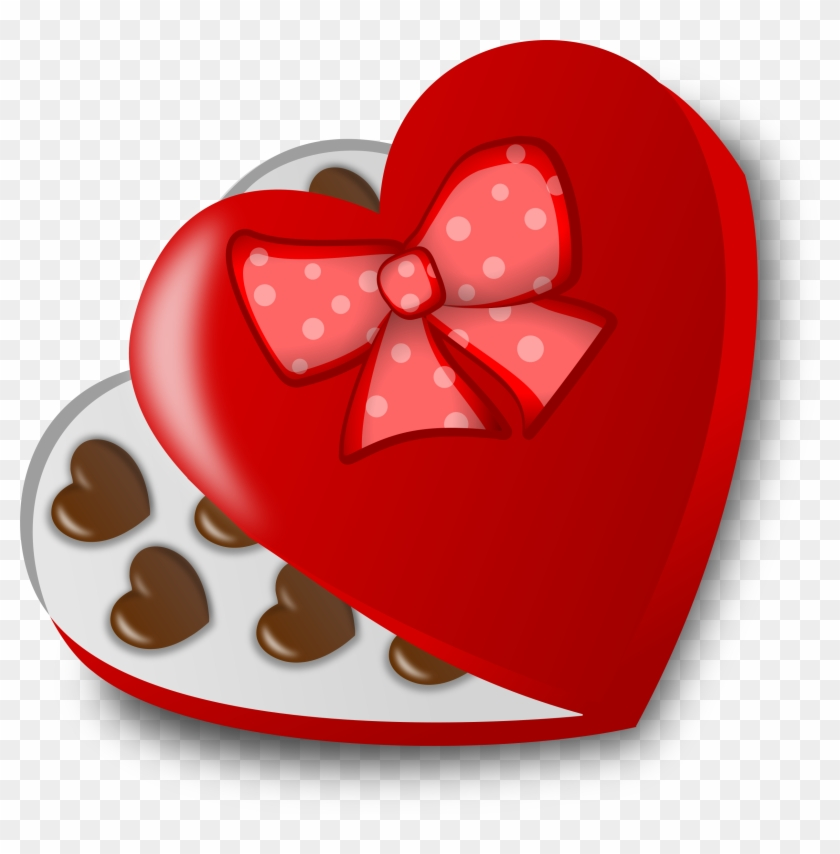 Box Of Chocolates Clip Art - Valentines Candy Clipart #91304
