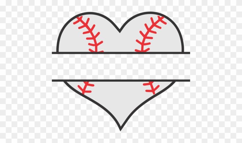 Baseball Heart Split - Baseball Heart #91369