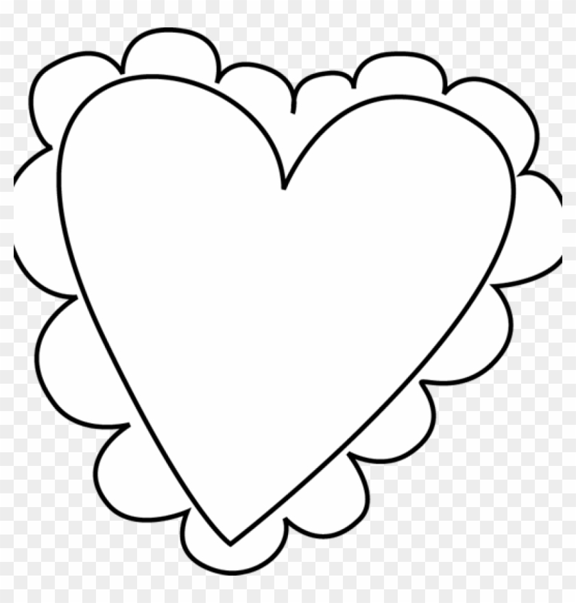 Heart Clipart Black And White Heart Clip Art Black - Cute Heart Clipart Black And White #91428