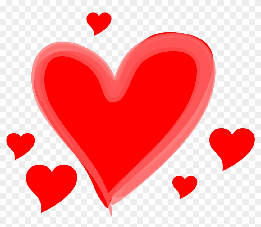 Cartoon Love Hearts - Love Heart Transparent Background #91687