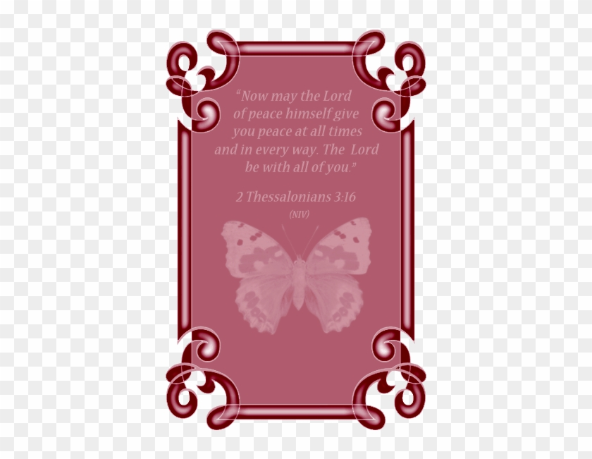 This Frame Features A Pink Butterfly - Clip Art #91694