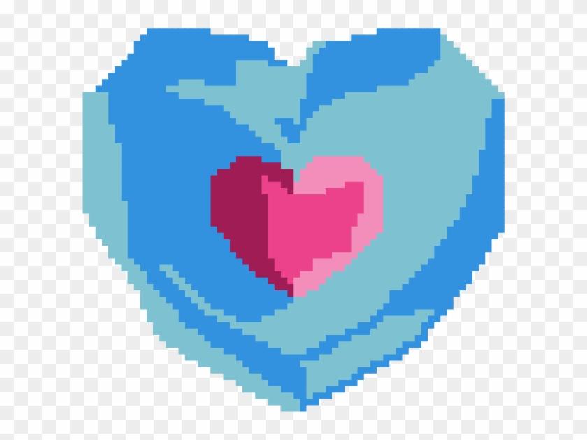 8 Bit Clipart Heart - 8 Bit Heart Piece #91713