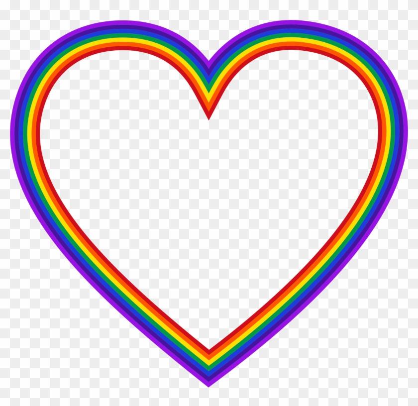 Hearts Clipart Rainbow - Rainbow Heart Clip Art #91752