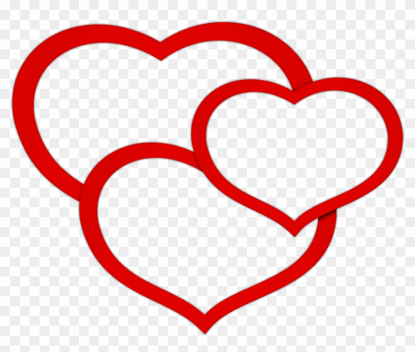 Transparent Red Triple Hearts Png Clipart Picture - Triple Heart Png #91754