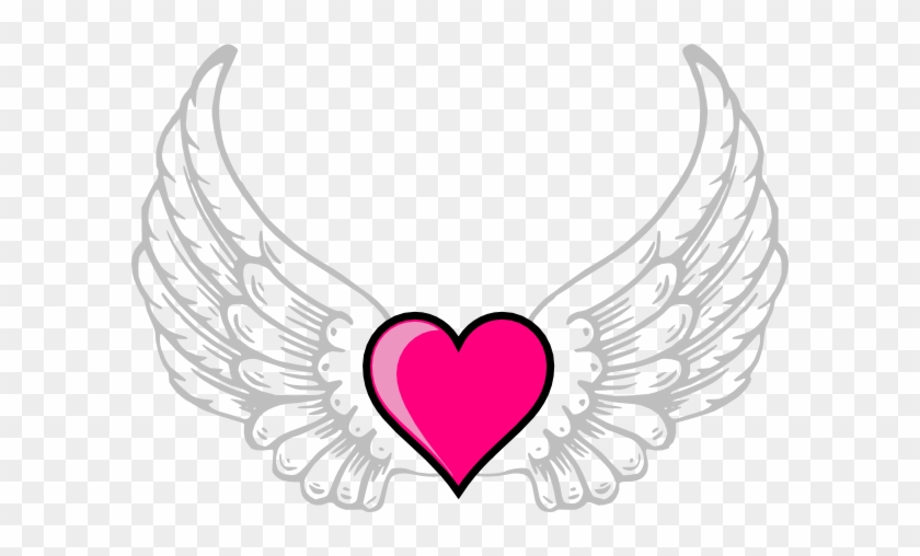 Heart - Heart With Wings Coloring Page #91768