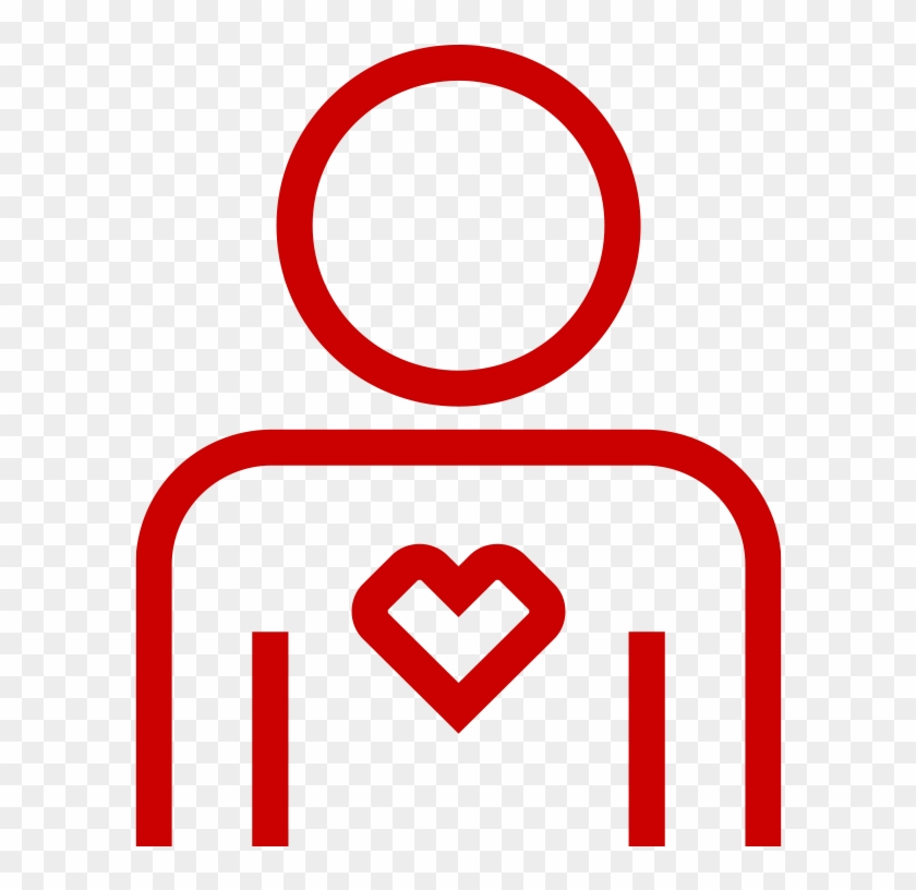 Person And Heart Icon - Circle #91773