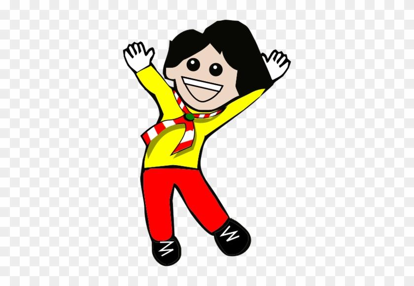 Vector Clip Art Of Happy Kid Jumping - Clipart Happy Kid #91993