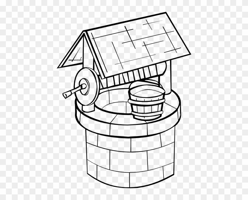 Black Well Clip Art - Well Coloring Page #92027