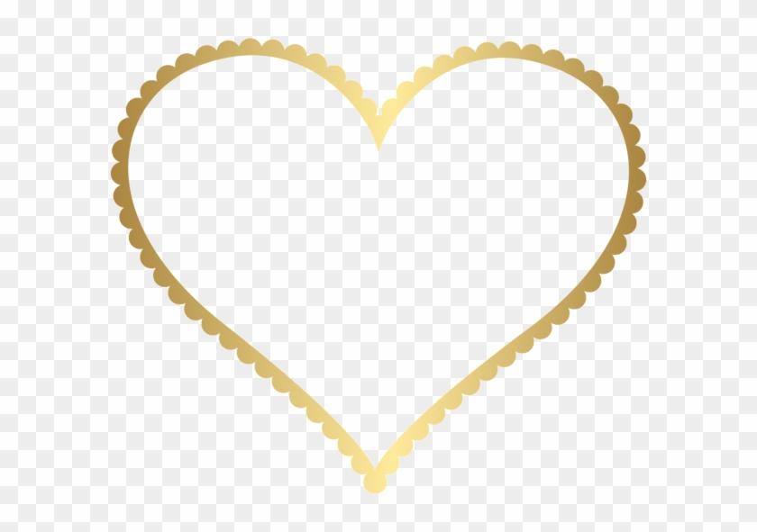 Gold Heart Border Frame Transparent Png Clip Art - Heart Border Png ...