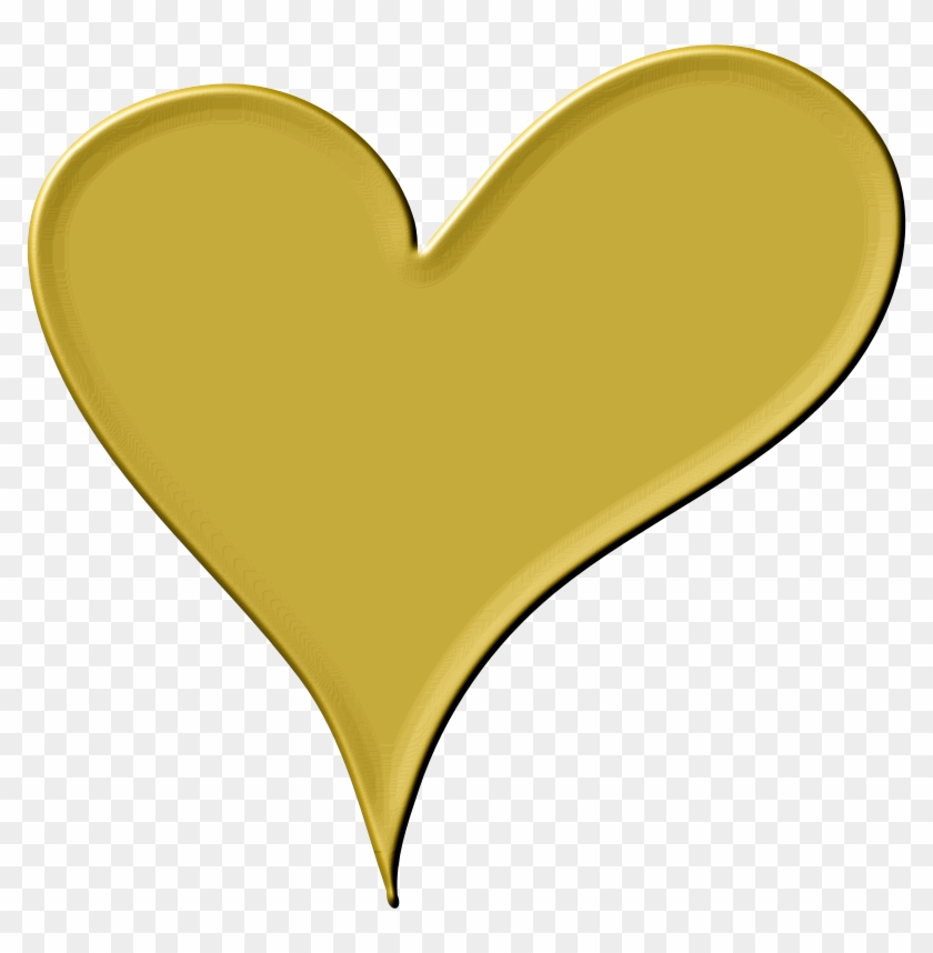 Clipart Heart In Gold - Gold Heart Clip Art #92068