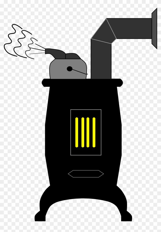 Wood Stove Clipart - Wood-burning Stove #92079