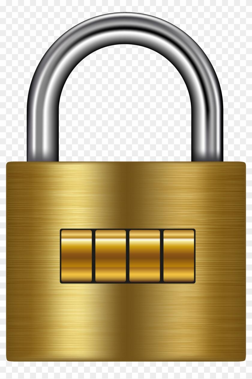 Lock Gold Png Clip Art - Clip Art #92168