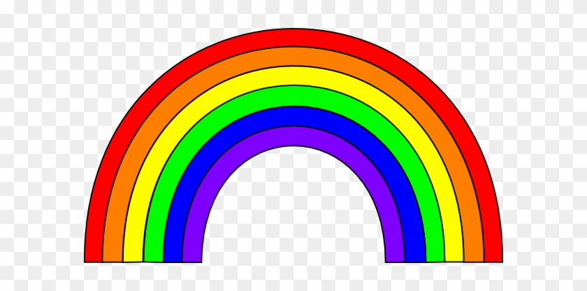This Free Rainbow Clip Art Is Free Clipart Images - Colors Of The Rainbow #92174