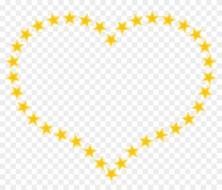 Clip Art Details - Star In Heart Shape #92202