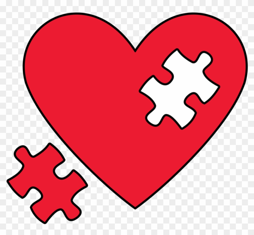 Puzzle Clip Art - Heart With Puzzle Piece #92221