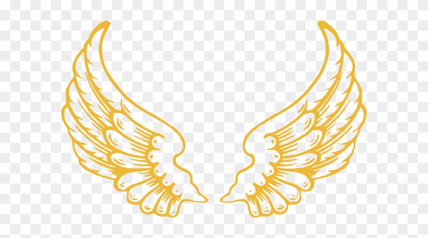 Gold Wings Clip Art - Angel Wings With Halo #92264
