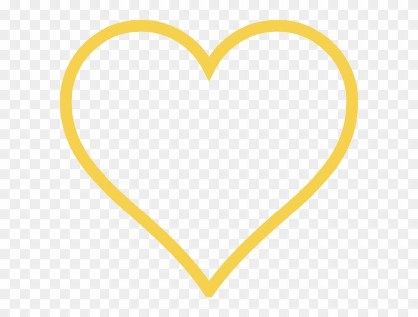 Light Gold Heart Clip Art At Clker - White Heart Outline Transparent #92266