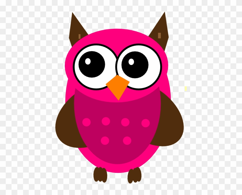 Free Pink Owl Clipart Image - Owls Vector Clip Art #92267