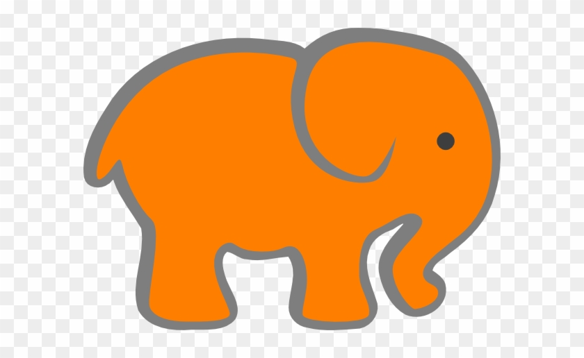 Free Baby Elephant Clip Art Pictures Clipartix - Orange And Grey Elephant #92321