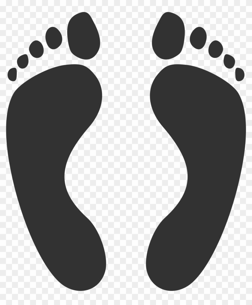 Free Baby Footprint Clipart - Soles Of The Feet Cartoon #92344