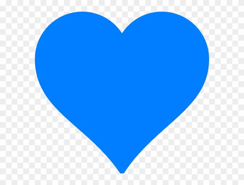 Blue Heart Kokoro Clip Art - Blue Heart Clipart #92342