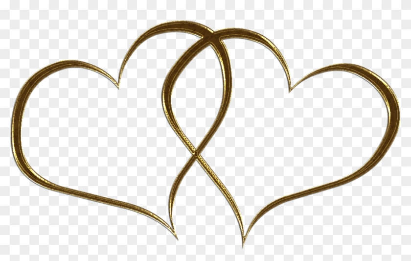 Wedding Rings Clip Art Gold Download - Heart Clipart Black And White #92350