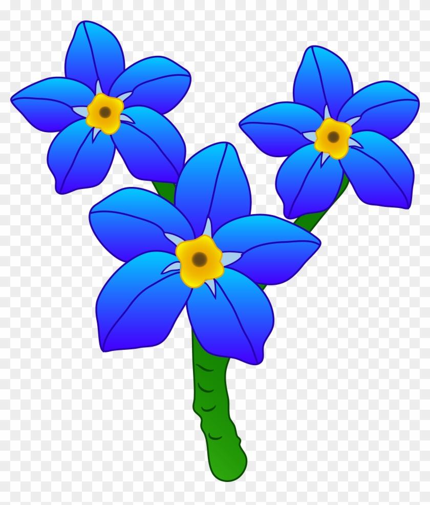 Blue Flower Clipart Pretty Flower Forget Me Not Flower Clipart