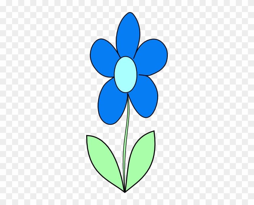 Blue Flower Clip Art At - Clip Art Blue Flower #92436