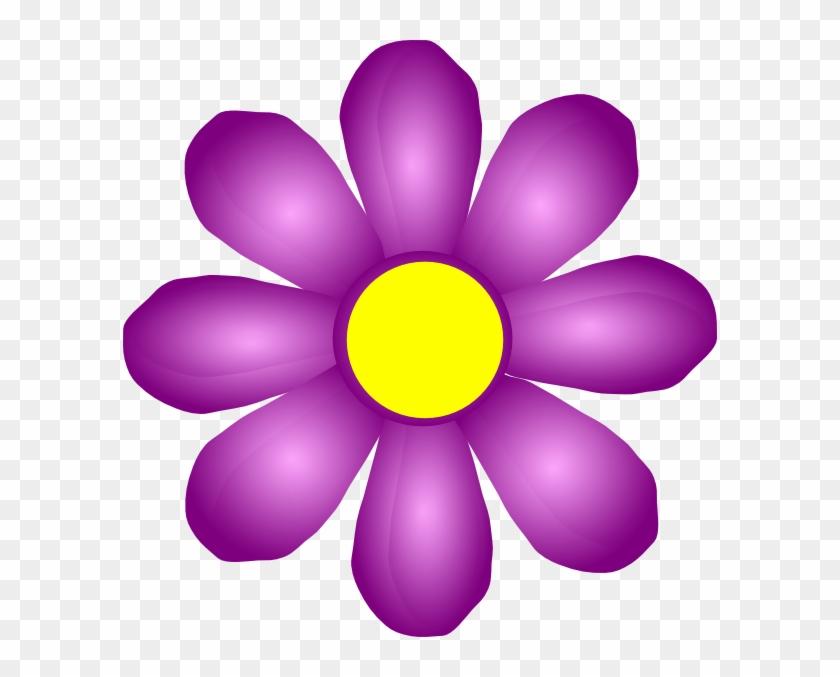 Violet Flowers Clip Art #92444