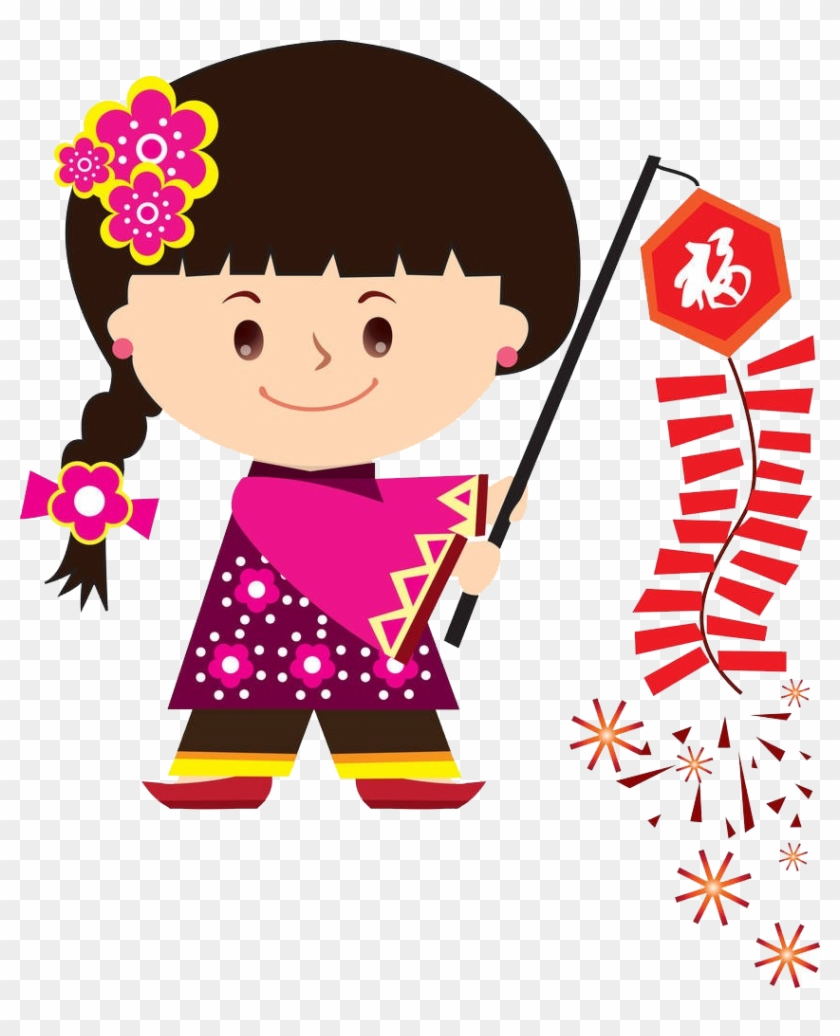 Chinese New Year Cartoon Royalty-free Clip Art - Chinese New Year Cartoon Royalty-free Clip Art #92489