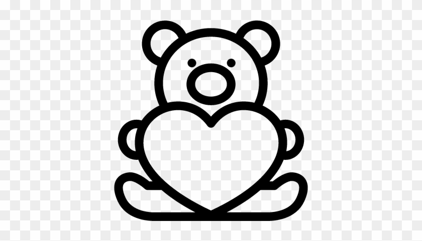 Teddy Bear With Heart Vector - Teddy Bear Clip Art #92459