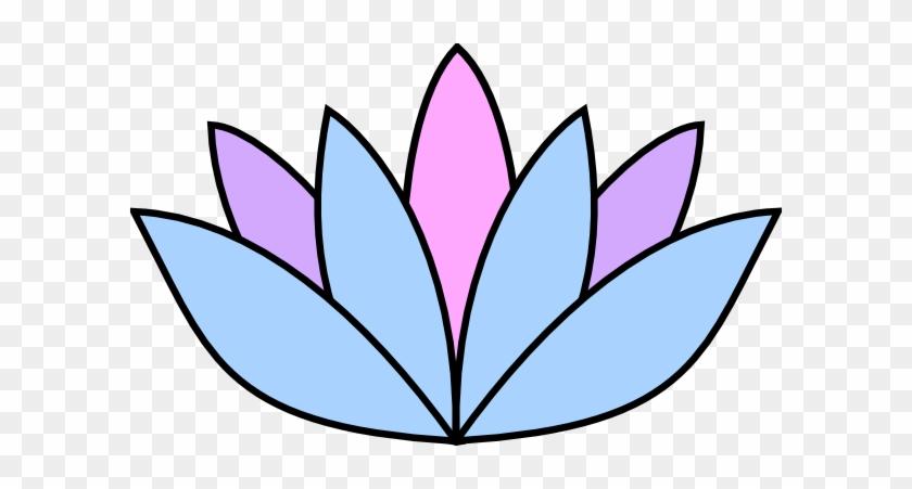 Lavender Flower Clip Art - Easy Draw Lotus Flower #92570