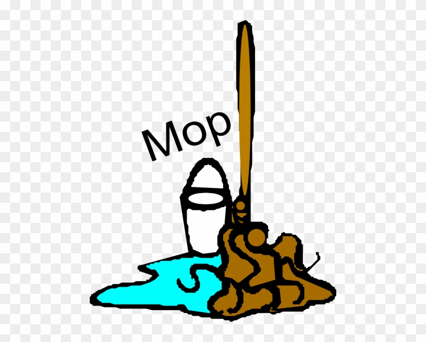 Chores Clipart Clipart - Mop And Bucket Clipart Transparent #92575