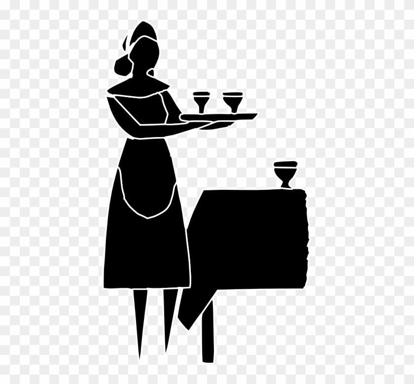 Free Clipart Of Waiters, Waitresses And Bartenders - Waitress Clipart Transparent #92607