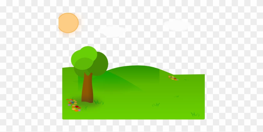 Nice Landscape Cartoon Clip Art - Vector Taman Png #92651