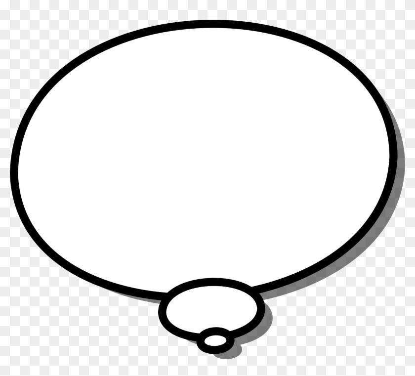 A Simple Black And White, Round Cartoon Callout With - Speech Bubble Black Background #92682