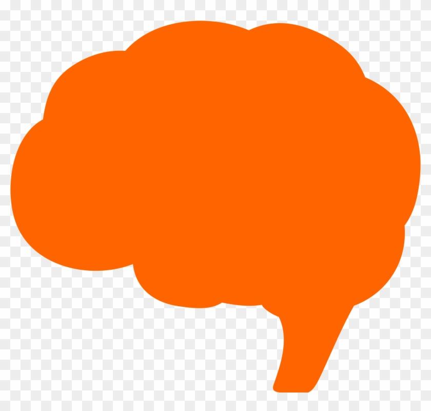 Brains Clipart Orange - Orange Brain #92720