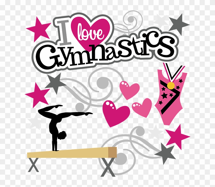 Gymnastics Clipart Glitter - Love Gymnastics #92749