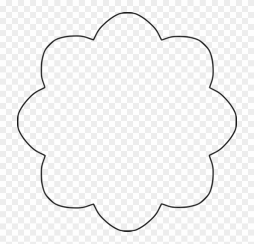 Black And White Shapes Clipart - Flower Shape Clipart Black And White #92794
