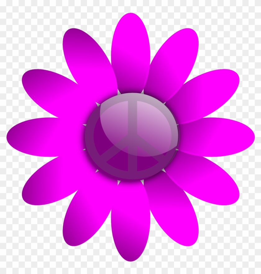 Scalable Vector Graphics Peace Sign Flower 19 Scallywag - Design For Primary And Secondary Colours #92805
